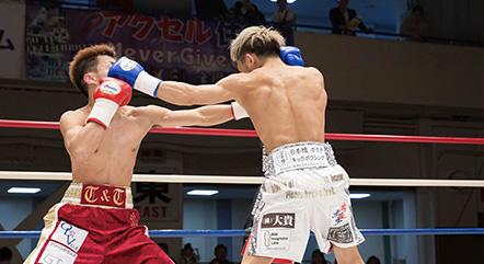 ボクシングの試合撮影_日本ユース・ライトフライ級準決勝