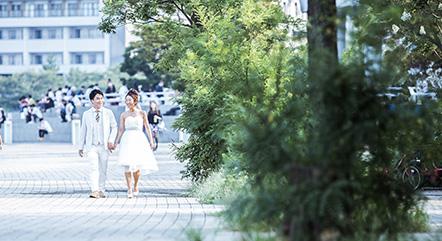 横浜みなとみらい臨港パーク前撮り撮影