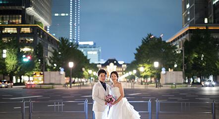東京駅丸の内通り_前撮りナイト撮影