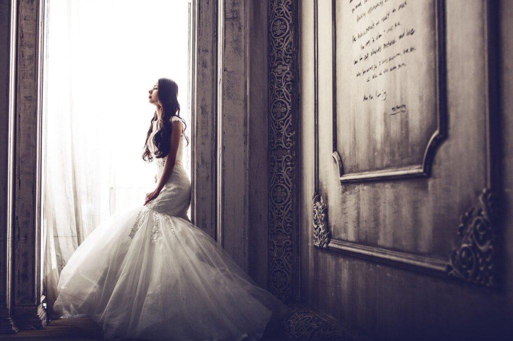 美しく見えるためのウエディングドレス